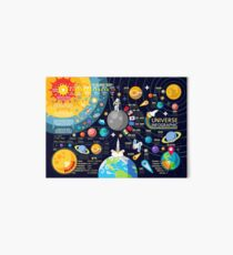Space Universe Infographics Big Bang Art Board