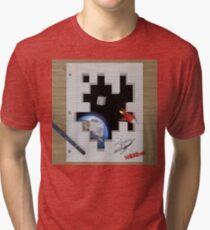 Camiseta de tejido mixto Feuille créatif