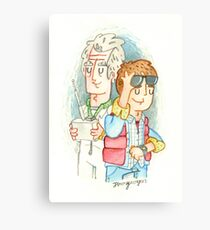 Doc & Marty Canvas Print