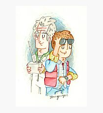 Doc & Marty Photographic Print