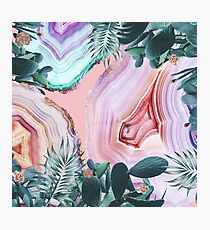 Mineral Agates & Garden #Glam collection Photographic Print