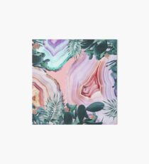 Mineral Agates & Garden #Glam collection Art Board Print