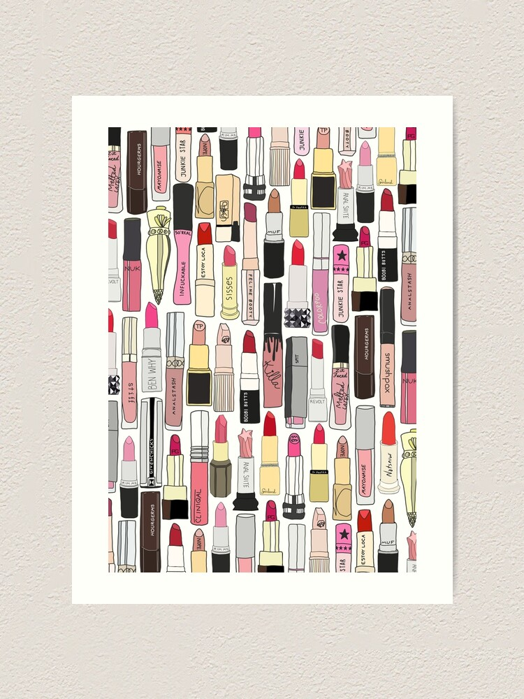 Alternate view of Lipsticks Makeup Illustration Collection   Art Print