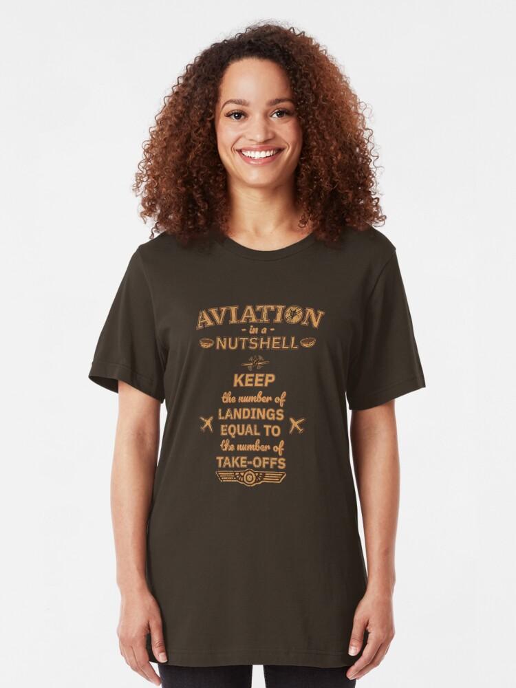 Alternative Ansicht von Aviation In A Nutshell - Funny Aviation Quotes Gift Slim Fit T-Shirt