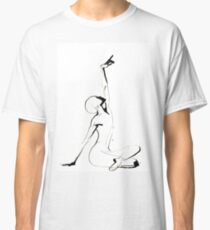 India Ink Dance Drawing Classic T-Shirt