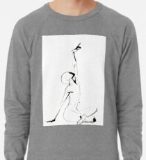 India Ink Dance Drawing Lightweight Sweatshirt