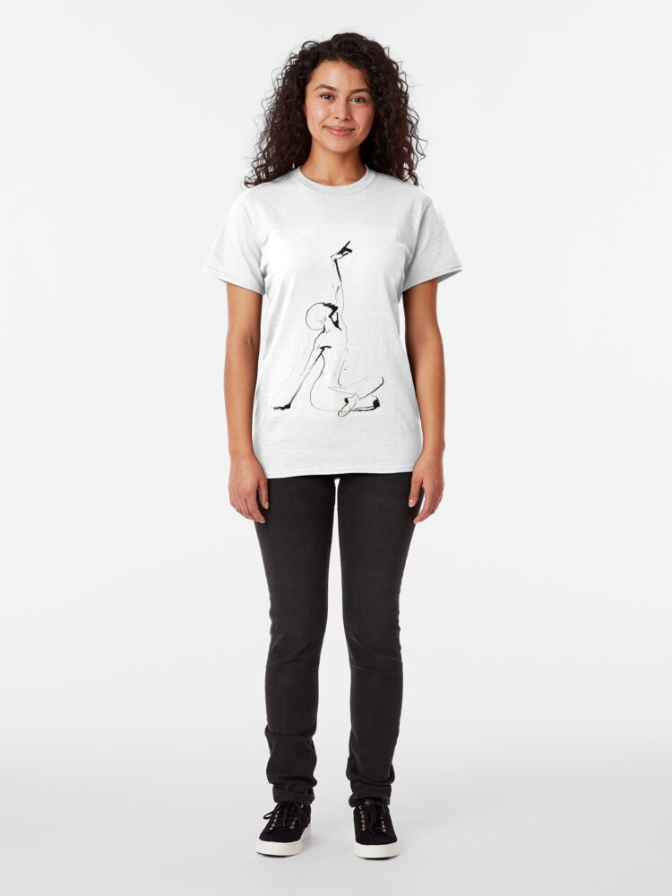 Alternate view of India Ink Dance Drawing Classic T-Shirt