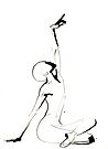 India Ink Dance Drawing by CatarinaGarcia