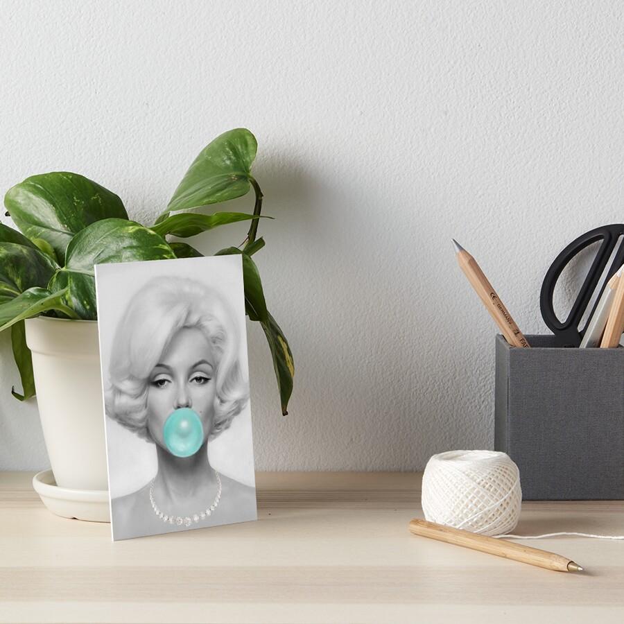 Bubblegum portrait Tirquaz Art Board Print