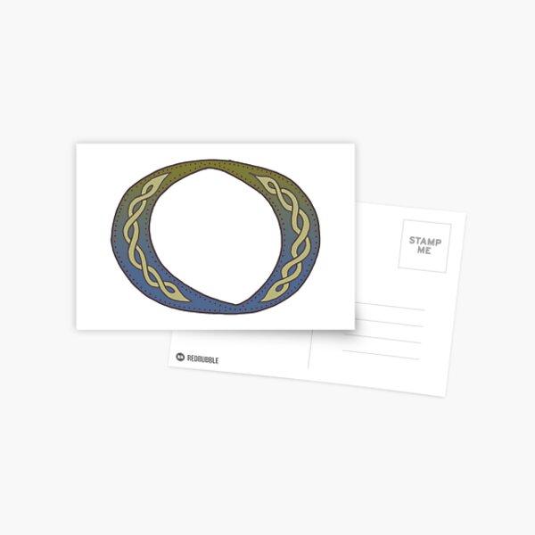 Celtic Knotwork Alphabet - Letter O Postcard