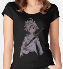 Angry Meliodas Women's Fitted Scoop T-Shirt