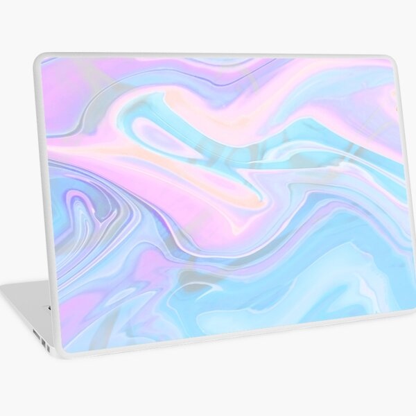 Sea Marble Candy Pattern - Violet, aqua and blue Laptop Skin