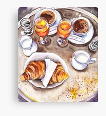 French breakfast Canvas Print