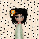 Black Hair Doll Brown Eyes by rupydetequila