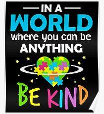 Sei freundlich Poster