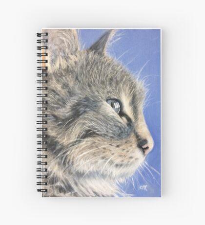 Contemplating evil Spiral Notebook