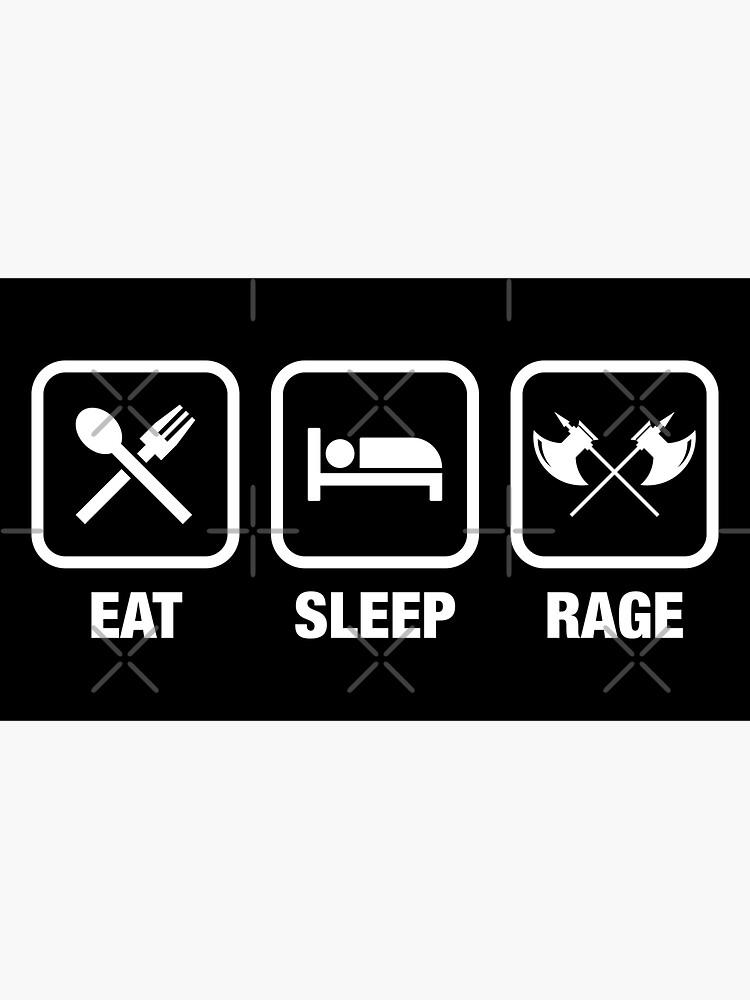 Eat Sleep Rage Barbarian Tabletop Juegos de rol de pixeptional