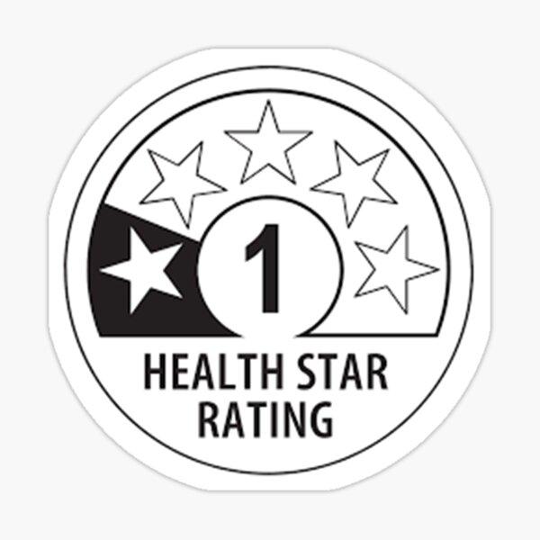 Health Star Rating Sticker