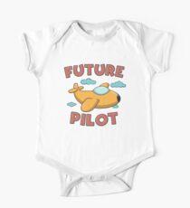 Future Pilot - Funny Aviation Quotes Gift Baby Body Kurzarm