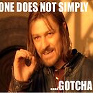 ONE DOES NOT SIMPLY ...GOTCHA by TOMX5