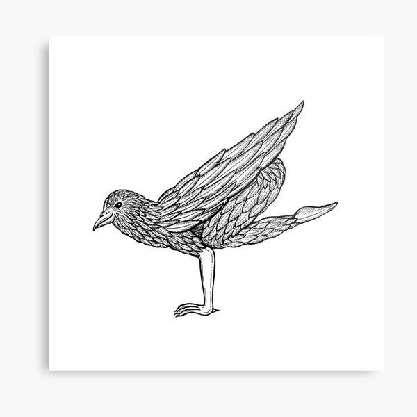 Crow Pose / Bakasana Metal Print