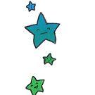 Happy Stars - Green and Blue by TakoraTakora