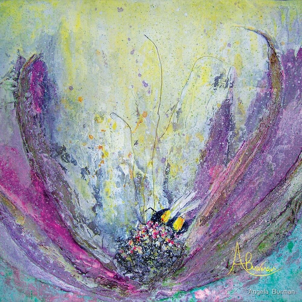 Fantasy Flower & Bee by Angela  Burman