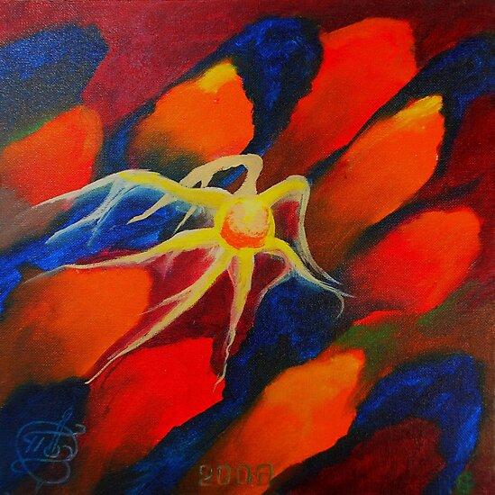 Oil Painting - Upstream, Abstract 2008 by Igor Pozdnyakov