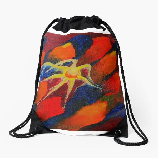 Oil Painting - Upstream, Abstract 2008 Drawstring Bag