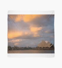 Late evening sun catches the clouds over Sydney Opera House Scarf