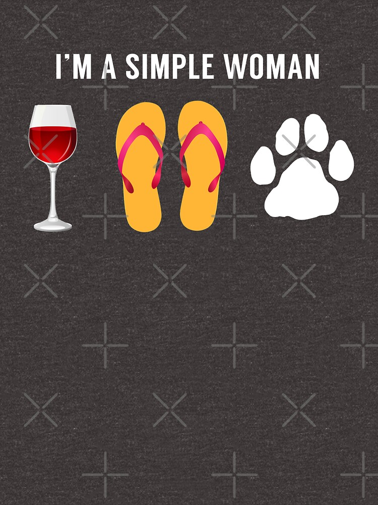 Ich bin eine einfache Frau Wein Strand Sandalen Hund Liebhaber von JapaneseInkArt