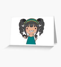 Misschievous MISFITS XOX Greeting Card
