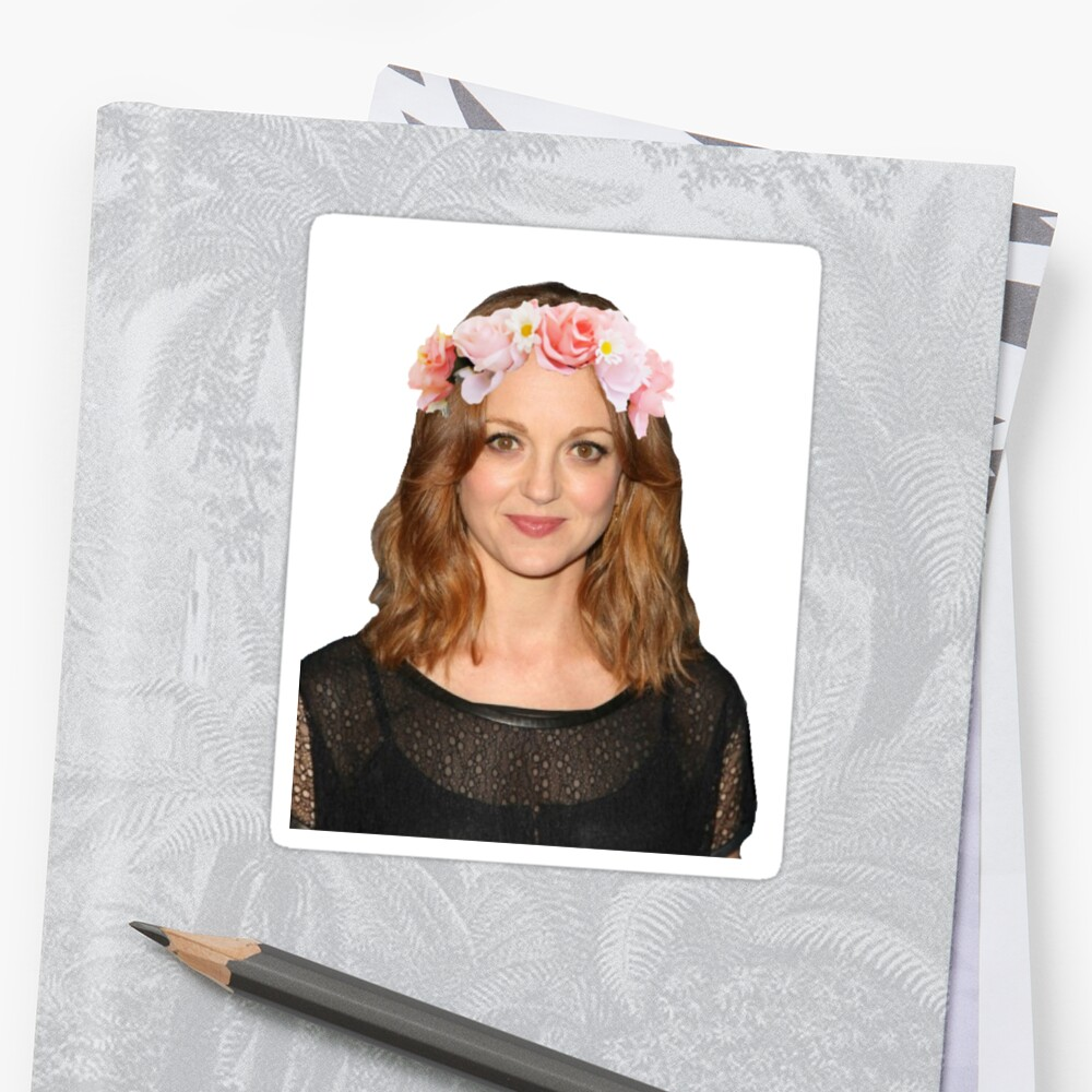 Jayma Mays Flower Crown Stickers By Eloise F Redbubble