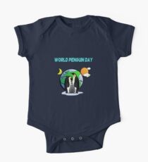 It's World Penguin Day Let's Chill awareness shirt One Piece - Short Sleeve