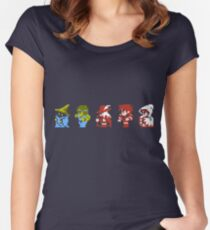 Final Fantasy - Team up Women's Fitted Scoop T-Shirt