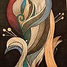 Abstract waves of fire pattern  by cocodesigns