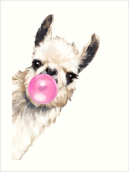 «Sneaky Llama con Bubble Gum» de bignosework