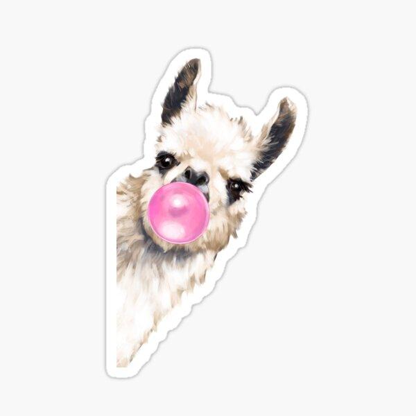 Sneaky Llama avec Bubble Gum Sticker