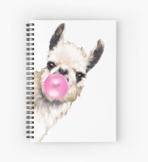 Sneaky Llama with Bubble Gum Spiral Notebook