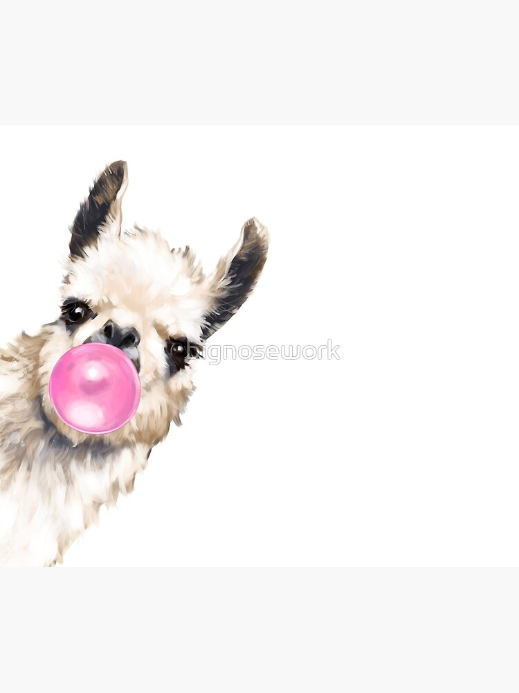 Sneaky Llama with Bubble Gum by bignosework