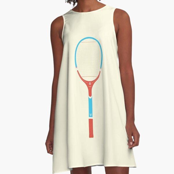 Retro vintage wood tennis racket A-Line Dress