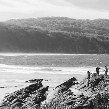 Kids on Beach - Seal Rocks, NSW by ezzitheexplorer