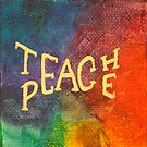 Watercolor Teach Peace by cocodesigns
