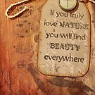 If you truly love nature you will find beauty everywhere by cocodesigns