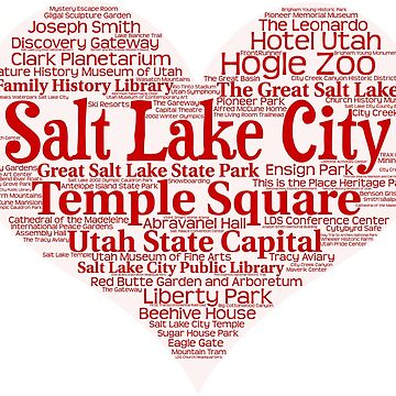 Heart of Salt Lake City Word Cloud Products by Mel747