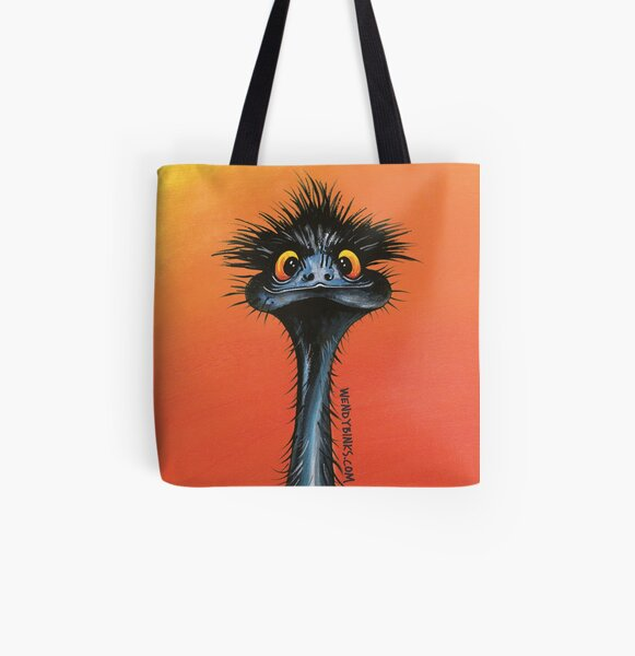 stunned emu with sunset All Over Print Tote Bag