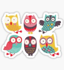 Happy owls Sticker