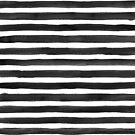 Black Watercolour Stripes by ANNA EVE