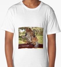Kissed by a giraffe Long T-Shirt
