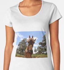 Giraffe getting personal 5 Women's Premium T-Shirt
